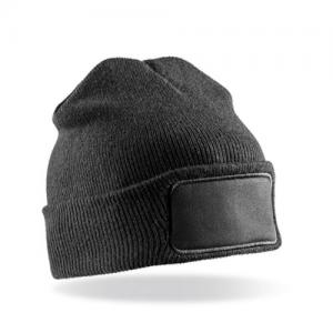 Recycled Double Knit Printers Beanie